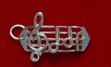 LOOK Sterling silver 925 charm Sheet Musician Singer Music player bar barline no