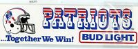 "NEW ENGLAND PATRIOTS  FOOTBALL TEAM ISSUED VINTAGE 1980'S STICKER DECAL 12"" x 3"""