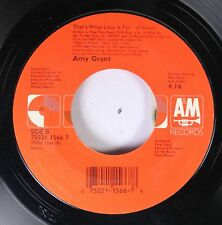 90'S 45 Amy Grant - That'S What Love Is For - Lp Version / That'S What Love Is F