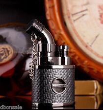 Jobon Lighter Torch Jet Flame Cigar Refillable Butane Lighter With Lock Black