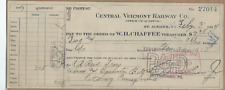 Central Vermont  Railway Co.1914 no protest  check