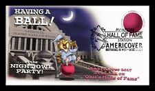 DR JIM STAMPS US COVER KICKBALL FDC AVIATION HALL OF FAME ALL OVER HUMOR
