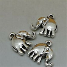 15pc Tibetan Silver elephant Charm Beads Pendant accessories Findings  PL553