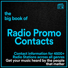 The BIG BOOK of Radio Contacts // Details for 4000+ Radio Stations & Playlisters