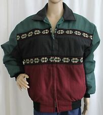 Ladies Medium Canyon Guide Outfitters Green Black and Red Southwest Design Coat