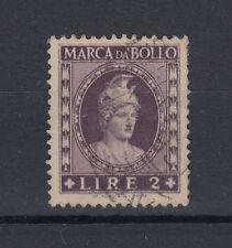 1945-48 MARCA DA BOLLO A TASSA FISSA 2 LIRA USATA