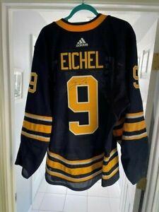 Game Autographed Rare Jack Eichel Buffalo Sabres Adidas Home Jersey w/ COA