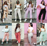 Womens Oversized Ladies Cuffed Fleece Jogging Trouser Jogger Bottoms Jog Pants