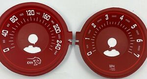 DODGE CHALLENGER SRT style 2015- speedometer dial in 260km/h  (red color)
