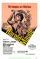 HAROLD AND MAUDE MOVIE POSTER Original 27x41 Rare Rolled Re-release 1979