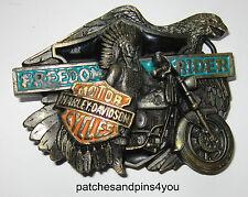 Harley Davidson FREEDOM RIDER H-418 Baron Belt Buckle