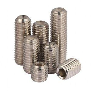 M5 M6 Allen Head Socket Hex Set Grub Screw Cup Point 304 A2-70 Stainless Steel