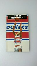 1986-87 Washington Bullets Basketball & Capitals Pocket Schedule Giant Store AD