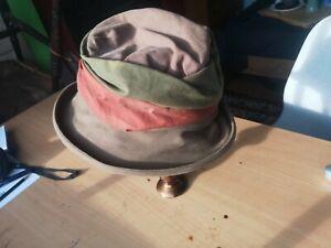 Olney Waxed Cotton Bucket Hat Multicoloured