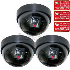 5x Dummy Security Camera Fake LED Flashing Light Home CCTV Dome Surveillance mjz