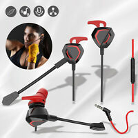 Gaming Headset Earbuds 3.5mm Stereo Earphone Dual Mic for Ps4/5 Xbox Switch iPad