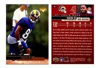 Az-Zahir Hakim Signed 1999 Upper Deck #176 Card St. Louis Rams Auto Autograph