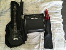 guitare électrique junior 3/4 Harley Benton, ampli, housse, pupitre ...