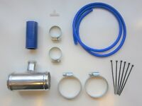"""Dump Valve Fitting Kit 50mm Alloy T-Piece for 25mm BOV - BLUE Silicone 2"""" Inch"""