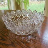 American Brilliant Crystal Pressed Glass Bowl 8""