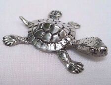 Pewter Baby Turtle Figurine Miniature Cute Animal Handmade Collection