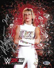 Alundra Blayze Signed 8x10 Photo BAS Beckett COA WWE Hall of Fame 2K16 Picture