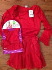 New Girls red shrug dress Dollie and Me valentine (fits american girl) size 8