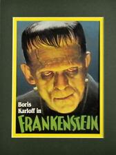 Boris Karloff FRANKENSTEIN PRINT PROFESSIONALLY MATTED Universal Monsters