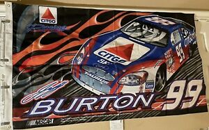 Jeff Burton #99 Citgo Racing Team One Sided Flag 60 in x 35 in NASCAR Fords