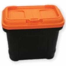Pet Food Storage Container Animal Dry Cat Dog Bird Food Box Bin Black Orange