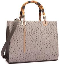 New Dasein Women Leather Satchel Purse Tote Bag Shoulder Bag Laptop Briefcase