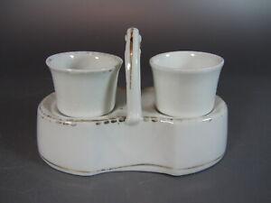 Antique victoria carlsbad austria Itted egg cup Holder Carrier SERVICE Porcelain