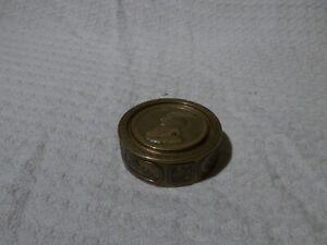 Antique Admiral Lord Nelson Trafalgar 1805 Brass Snuff Tin Box