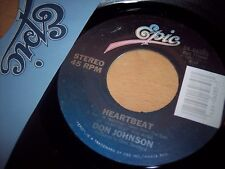 VG++ 1986 Don Johnson Heartbeat / Can't Take Your Memory 45RPM w/ppr slv