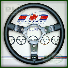 "LAND ROVER DEFENDER - 14"" Mountney Black Vinyl Steering Wheel (43SBVB)"