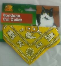 LEATHER CAT COLLAR/BANDANA BY MAX & TILLY-PETS-CATS-GOOD UK QUALITY-NECKERCHIEF