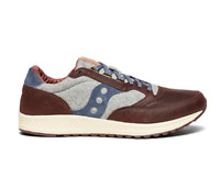 Saucony Men's Freedom Runner Casual Sneakers in Brown/Grey/Blue, Pick A Size