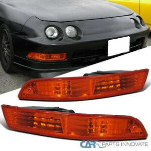 For 94-97 Acura Integra Amber Bumper Lights Turn Signal Parking Lamps Left+Right