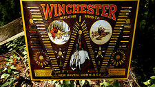 Winchester Rifle Shotgun Ammunition And Bullets Tin Advertising Wall Decor Sign