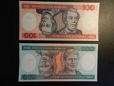 LOT OF *BRAZIL* 100 & 200 CRUZEIROS UNCIRCULATED/UNC NOTES. CRISP & CLEAN