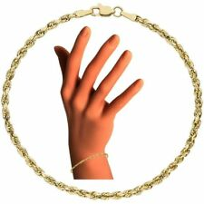 Kordelarmband 585 echt Gelbgold Armkette 19 cm Armband 14 Karat 2,6 mm stark