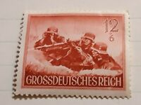 Nazi Germany 3rd Third Reich War , MG34 crew postage stamp MNH , Austria