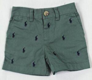 Polo Ralph Lauren Descolorido Verde Shorts Chinos Múltiple Cola de Caballo Nwt