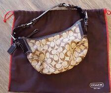 Coach Soho Signature Braided Leather Buckle Hobo Shoulder Bag