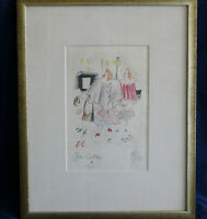 "JEAN COCTEAU Original Etching Signed & dated 1953 ""Untitled"" (bought in 1970)"
