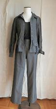 GERARD DAREL ensemble pantalon veste  polyester kaki T 42   très bon état