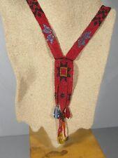 Long Vintage Native American Glass Bead Necklace / Vivid Radient Colors