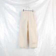 womens OG HELMUT LANG beige tab waist slash pocket trousers size 38