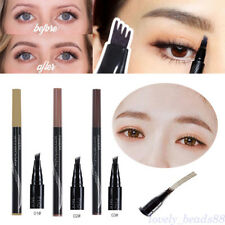 Microblading Tattoo Eyebrow Liquid Ink Pen Waterproof 4 Fork Pencil Brow Definer