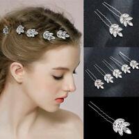 Women White Wedding Bride Bridal Crystal Rhinestone Party Hair piece Headband